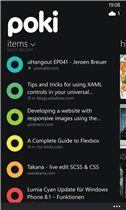 Poki is the prettiest Pocket App out there, but only for Windows Phone :-(
