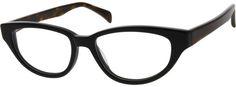 6337 Acetate Full-Rim Frame Black Cat Eyes, Spring Hinge, Cat Eye Glasses, Eyeglasses, Frames, Optical Glasses, Purses, My Style, Plastic