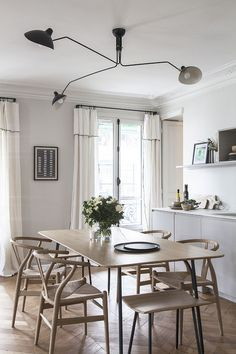 〚 French elegance and Scandinavian feel: modern apartment in Paris 〛 ◾ Photos ◾Ideas◾ Design Modern French Interiors, Home, Modern French Kitchen, Best Interior, Living Dining Room, Modern Apartment, Interior, Apartment Design, Interior Design Kitchen