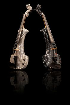Electric Violin covered in over 50,000 Swarovski Crystals