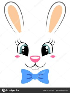 Resultado de imagem para rosto de coelho Easter Bunny, Easter Eggs, Fondant Animals, Clay Pot Crafts, Diy Ostern, Holiday Crafts For Kids, Animal Coloring Pages, Silhouette Cameo Projects, Cute Bunny