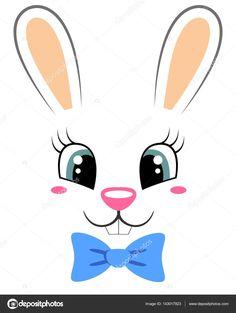 Resultado de imagem para rosto de coelho