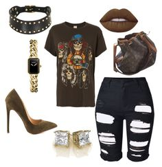 """""""Graphic mania"""" by styledbytine on Polyvore featuring MadeWorn, Lime Crime, Liliana, Zana Bayne, Topshop, Louis Vuitton and Chanel"""