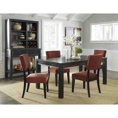 Ashley Furniture Gavelston Rectangular Dining Table Set in Black