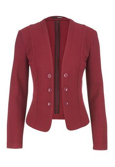 textured knit military blazer in cranberry (original price, $44) available at #Maurices
