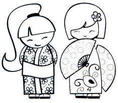 Rubrikabrac - On est bien chez laurette Heart Coloring Pages, Adult Coloring Pages, Coloring Books, Quilting Stencils, Quilting Projects, Geisha Drawing, Chez Laurette, China Facts, Asian Quilts