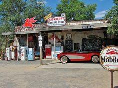 Gasolinera en Hackberry en la Ruta 66 de Arizona
