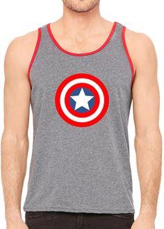 Captain America Avengers Running Tank Unisex by RunningPoetry #rundisney #superhero #captainamerica