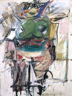 Woman (Green), 1953-55 Oil on canvas 30 1/4 x 23 1/8 inches 76.8 x 58.7 cm