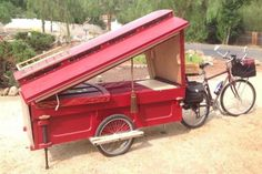 micro gypsy wagon for bicycles 04 600x400   Micro Gypsy Wagon That You Can Tow by Bicycle