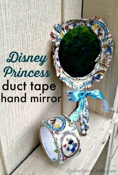 Disney Princess Duct Tape Hand Mirror