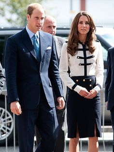 Ready for business in a military-inspired Alexander McQueen design, the Duchess joined William for a surprise Aug. 19, 2011 visit to the Summerfield Community Center in Birmingham, England.