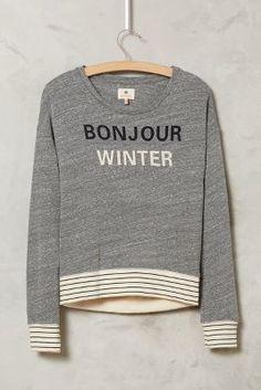 Sundry Bonjour Winter Tee #anthrofave #holidaygifts