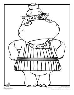 Doc McStuffins Coloring Pages – Plus She is a Great Role Model! Hallie the Hippo Doc McStuffins Coloring Page – Cartoon Jr.