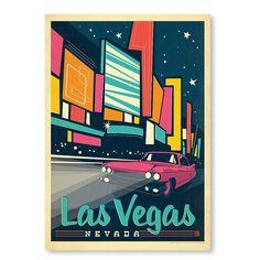Las Vegas Poster Print - Anderson Design - Americanflat