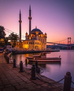 Ortaköy / Istanbul - Oh the places you'll go - Soho House Istanbul, Hotel Istanbul, Istanbul Travel, Hagia Sophia, Beautiful Mosques, Beautiful Places, Places To Travel, Places To See, Travel Photography