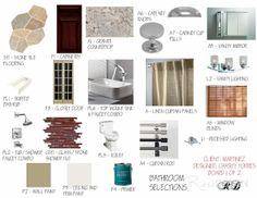 Bathroom Presentation Board. www.riesedesign.com