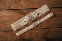 Wedding Garter Set / Bridal Garter Set / Lace Garter / Vintage-inspired Garter 335 by VeilsAndHeadpieces on Etsy