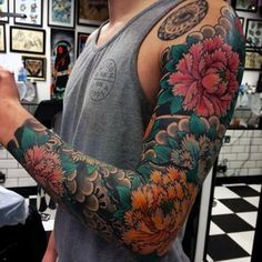 Full Sleeve Japanese Tattoo For Men tatuajes | Spanish tatuajes |tatuajes para…