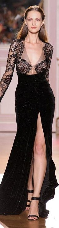 Evening gown, couture, evening dresses, formal and elegant zuhair murad #black