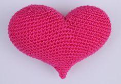 Hilde haakt: 3D Amigurumi hart haken
