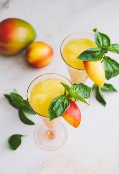 Summer Cocktail Recipe: Frozen White Wine Sangria with Stone Fruit & Mango