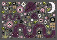 Carly Watts Art & Illustration: Snakes in the Grass