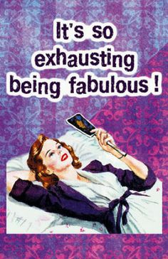 Its So Exhausting Being Fabulous Masterprint - bij AllPosters.be Aline