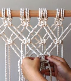 macrame plant hanger+macrame+macrame wall hanging+macrame patterns+macrame projects+macrame diy+macrame knots+macrame plant hanger diy+TWOME I Macrame & Natural Dyer Maker & Educator+MangoAndMore macrame studio Macrame Wall Hanging Patterns, Macrame Plant Hangers, Macrame Patterns, Quilt Patterns, Macrame Design, Macrame Art, Macrame Projects, Macrame Mirror, Micro Macrame