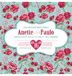 Wedding vintage invitation card floral pattern vector by woodhouse84 on VectorStock®