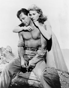 """William Holden in """"Picnic"""" -- hubba hubba! Oh yeah, and Kim Novak is there, too. ;)"""