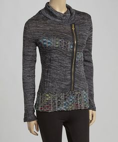 Loving this Gray Asymmetrical Zip-Up Jacket on #zulily! #zulilyfinds