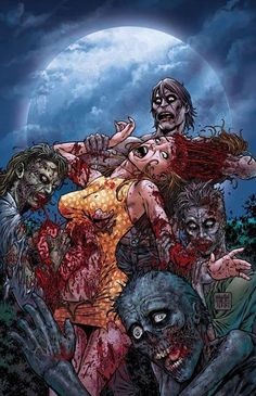 Night of the Living Dead [Volume (Avatar Press, Gore Variant Cover Zombie Kunst, Arte Zombie, Zombie Art, Zombie Monster, Monster Art, Zombie Food, Zombie Attack, Horror Artwork, Creepy Pictures