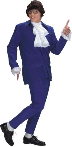 men s costume  austin powers deluxe Costumi Da Carnevale Per Adulti 3f57d74a52e