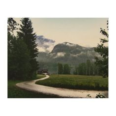"""A house at lake """"Grundlsee"""" (Altaussee Austria) Wood Wall Art Wood Company, Photo Print, Thing 1, Wood Canvas, White Ink, Paper Design, Wood Wall Art, Wood Print, Country Roads"""