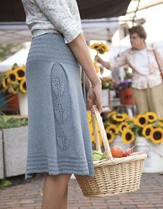Beautiful skirt with side panel... It drapes nicely and the style is very flattering. The design is part of a booklet which can be purchased here: http://classiceliteyarns.com/pattern_detail.php?patternID=97#