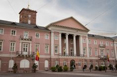 19TH CENTURY, Neo-Classicism, Germany - Friedrich Weinbrenner (1766-1826): Town hall, 1818-25, Karlsruhe.