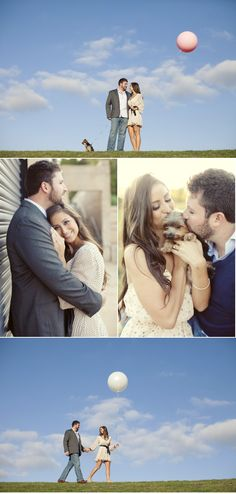 engagement photos with puppy :)