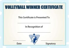 Volleyball certificate templates word volleyball certificates free volleyball winner certificate yadclub Image collections