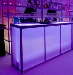6' Translucent Bar | Town & Country Event Rentals