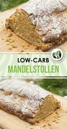 Almond stollen without raisins - low carb - gluten free - healthy - delicious- Mandelstollen ohne Rosinen – Low Carb – Glutenfrei – Gesund – Lecker The low-carb almond stollen is a perfect … - Low Carb Sweets, Low Carb Desserts, Low Carb Recipes, Protein Desserts, Law Carb, Low Carb Backen, Cake Recipes, Dessert Recipes, Soup Recipes