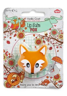 Fun on the Run Lip Balm. Looking for a clever way to keep your smile sweet on the go? #orange #modcloth