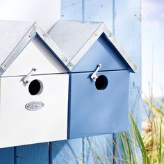 Offer the birdlife in your garden a little seaside holiday home of their own! This terrace of mini beach huts is sure to encourage sparrows, fans of communal living and a protected species, into your garden. Small entry holes prevent larger birds 'squatting' in the desirable residences. Made from FSC wood in colours exclusive to the #RNLI, with a zinc roof and hinged back doors for easy cleaning - £29.95