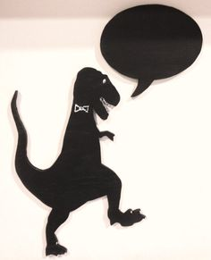 T-Rex Dinosaur Chalkboard with Speech Bubble - Great for the Kitchen or a Childs Bedroom via Etsy