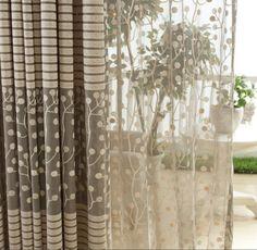 Beautiful-Leaf-Tulle-Door-Window-Curtain-Drape-Panel-Sheer-Scarf-Valances