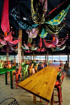Colorful Clancy's Fish Bar City Beach in Australia by designer Paul Burnham
