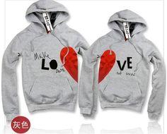 Couple Sweatshirts I think I want these - Randi Cute Couple Shirts, Cute Couple Outfits, Matching Couple Shirts, Cute Outfits For School, Matching Outfits, Cool T Shirts, Couple Clothes, Matching Couples, Couple Jacket