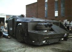 That'll be the APC from Aliens which was built around an old airport tug. Description from retrorides.proboards.com. I searched for this on bing.com/images