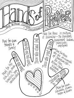 Look to Him and be Radiant: Hands of Prayer. This sheet can be printed and…