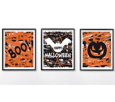 Happy Halloween Print Halloween Printable Decor by dadaprintables